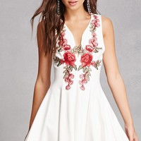 Floral Applique Princess Dress