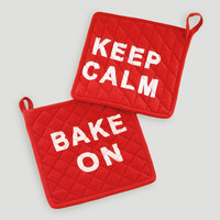 Keep Calm & Bake On Potholder, Set of 2 - World Market