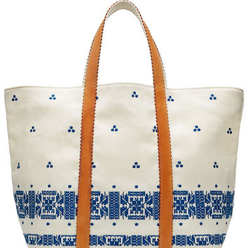 Embroidered Linen Tote - Vanessa Bruno | WOMEN | US STYLEBOP.COM