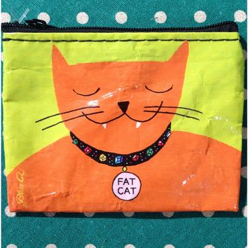 Fat Cat Coin Purse (Also Perfect for Small Makeup Items)