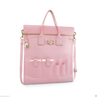$3150 SOLD OUT!!! NEW VERSACE POWDER PINK LEATHER ORGANIZER BAG