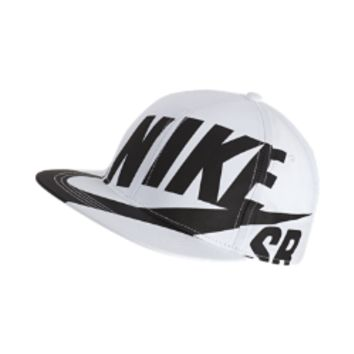 Nike SB Deck Flat Brim Kids' Adjustable Hat Size 1SZ (White)