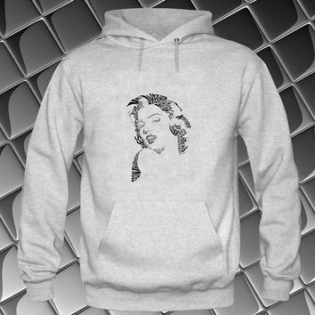marlyn monroe Hoodies Hoodie Sweatshirt Sweater white and beauty variant color Unisex size