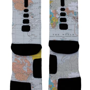 World Map Custom Nike Elites