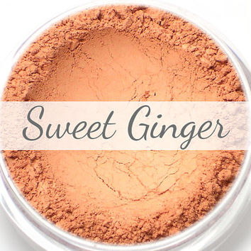 "Coral Blush Sample - ""Sweet Ginger"" (natural matte coral/melon/peach blush) - Vegan"