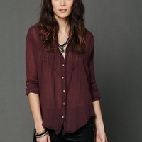 Free People FP ONE Gauze Buttondown