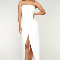 Party With Cardi Dress - White