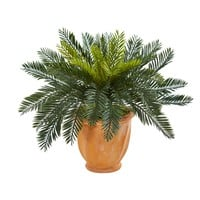 Artificial Plant -Cycas with Terracotta Planter Silk Plant