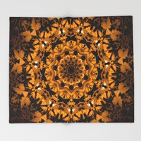 The Crunch of Fall Leaves Throw Blanket by Gwendalyn Abrams