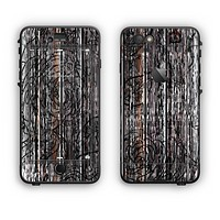 The Dark Wood with Floral Pattern Apple iPhone 6 Plus LifeProof Nuud Case Skin Set