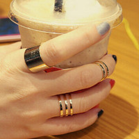 Jewelry Stylish Gift Shiny New Arrival Korean 3-pcs Ring [6586150599]