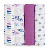 aden + anais Classic Swaddle 4 Count, Wink, 1 Pack