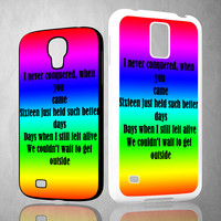 blink song lyric X0935 Samsung Galaxy S3 S4 S5 (Mini) S6 S6 Edge,Note 2 3 4, HTC One S X M7 M8 M9 Cases