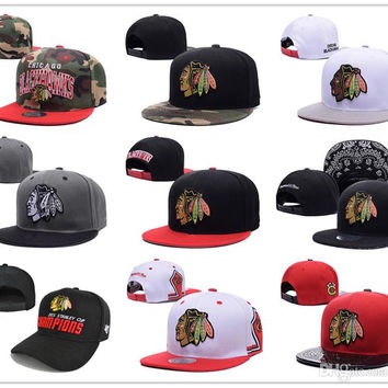 2017 New style Arrived Chicago Blackhawks gorras planas Hat Adjustable Baseball bones aba reta Snapback Hockey Cap Adjustable Hiphop chapeu