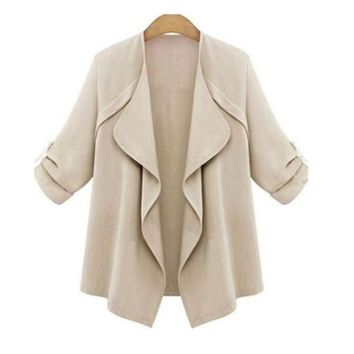Trendy Fashion Jacket Women Thin Coat Fat Loose Cardigan Thin Cotton Elegant Plus Size Clothing Female Outwear Shirt Coat AT_94_13