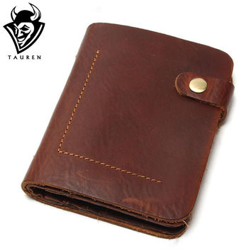 Layer Leather Men Vintage Wallet  Full Leather For Men Coin Purse
