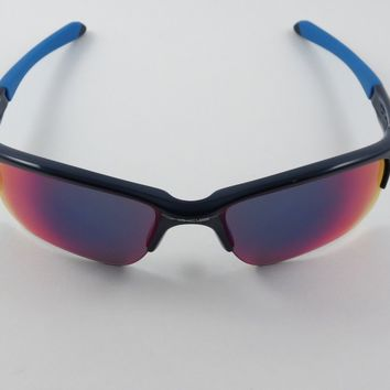 Oakley Quarter Jacket Polished Navy Blue Positive Red Iridium OO9200-04 RARE