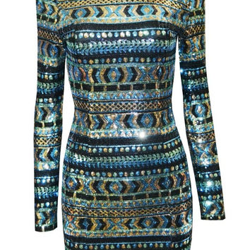 Johnny Multi - Green Sequin Dress
