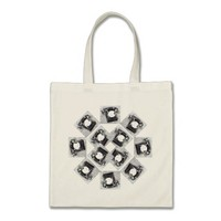 Old Dial Telephone Design on Tote Bag