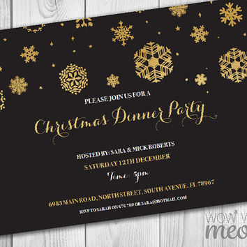 Best Black And Gold Party Invitations Products on Wanelo