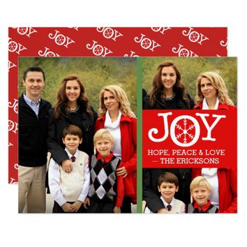 Joy Hope Peace & Love Photo Christmas Card 2