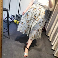 Print Chiffon Skirt Dress Summer Women's Fashion Prom Dress [4919964164]