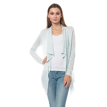 LE3NO Womens Classic Soft Knit Open Front Knitted Cardigan Sweater