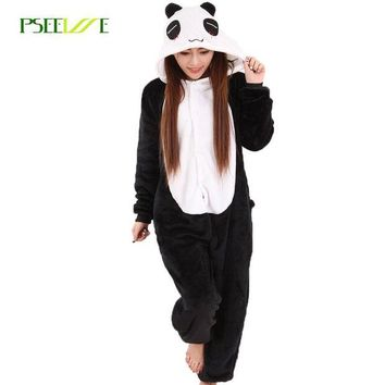 LMFONFI Women Pajama Flannel panda Unicorn Cartoon Cosplay Adult Onesuit For Adults Animal Pajamas Adult Unicorn Pajamas Winter Onesuit