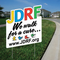 JuvenileDiabetesWalkStore.com |  2'x2' JDRF Walk Cut Out Sign