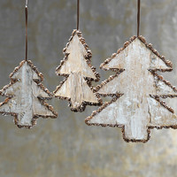 Birch Tree Ornament - Set of 12