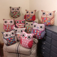 vintage inspired owl cushion by lisa angel homeware and gifts | notonthehighstreet.com
