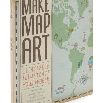 Chronicle Books Travel Make Map Art Kit