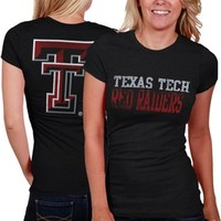 My U Texas Tech Red Raiders Ladies Literality Slim Fit T-Shirt - Black