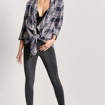 Plaid Flannel Cardigan