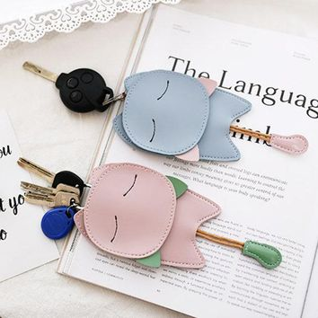 Cartoon Cute Style Cat Shape Key Chain