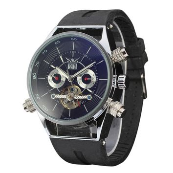 Mens Top Brand Luxury Hollow Skeleton Automatic Watch