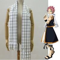 Anime Scarf Fairy Tail Role Natsu Dragneel Cosplay Costume Scarves Neckerchief Warm
