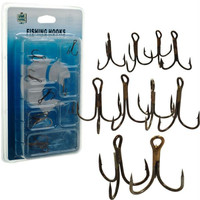 Gone Fishing  Set of 10 Treble Hooks - Assorted Sizes