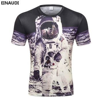 EINAUDI New Mens Space Astronaut 3D T-shirts Fashion Mens Delicious Pizza /Tigger/Starry sky Creative Tees 3d t shirts For man