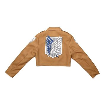Cool Attack on Titan  Jacket Coat no  jacket Coat Legion Cosplay Costumes Levi Eren Mikasa Coat6 SIZE AT_90_11