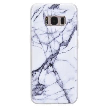 White & Gray Marble Samsung Case