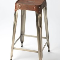 Connor Industrial Modern Barstool Medium Brown