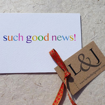 Such good news congratulations card, it could be they've had a new baby, got a new job, passed exams or graduation, well done you