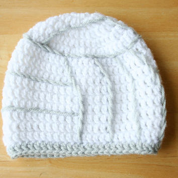 Volleyball Hat, crochet photo prop, baby girl photo prop, white and gray, 12 Months to 4T