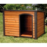 Slant Roof Solid Wood Outdoor Dog House 33L X 24W X 22H Inch
