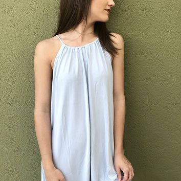 Simple Wandering Dress- Baby Blue