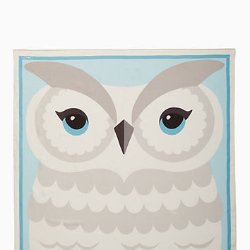 owl silk square scarf | Kate Spade New York