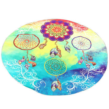 Round Print Beach Towel