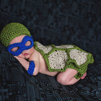 Super Cute Infant Ninja Turtle Costume for photo prop