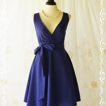 My Lady II Spring Summer Sundress Vintage Design Navy Party Dress Navy Bridesmaid Dress Garden Party Sundress Navy Dresses XS-XL